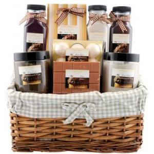 corbeille de bain delicious chocolat gloss les idees cadeaux espace cadeaux. Black Bedroom Furniture Sets. Home Design Ideas